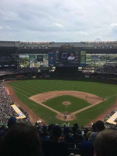Miller Park, section: 422, row: 17, seat: 11