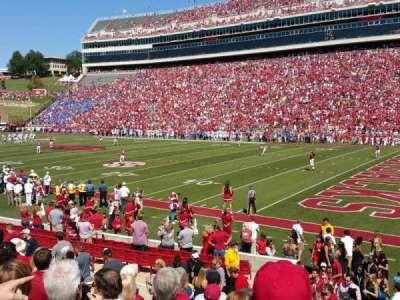 Razorback Stadium, section: 101, row: 12, seat: 25