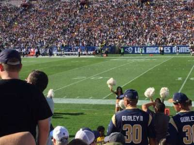Los Angeles Memorial Coliseum, section: 4, row: 12