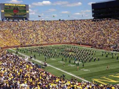 Michigan Stadium, section: 16, row: 67, seat: 12