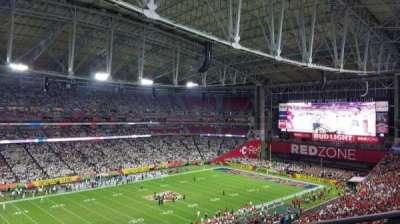 University of Phoenix Stadium, section: 418, row: A, seat: 20