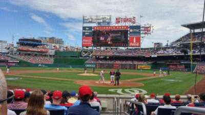 Nationals Park, section: Presidents Club B, row: K, seat: 1