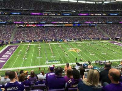 U.S. Bank Stadium, section: C10, row: 9, seat: 6