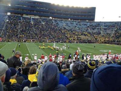 Michigan Stadium, section: 2, row: 22, seat: aisle