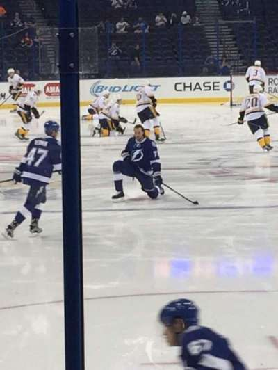 Amalie Arena, section: 126, row: G, seat: 3