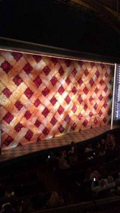 Brooks Atkinson Theatre, section: FMezz, row: A, seat: 21
