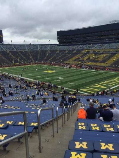 Michigan Stadium, section: 17, row: 67, seat: 17