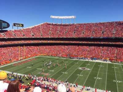 Arrowhead Stadium, section: 323, row: 3, seat: 5