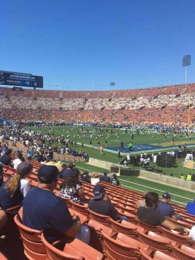 Los Angeles Memorial Coliseum, section: 2L, row: 27, seat: 2