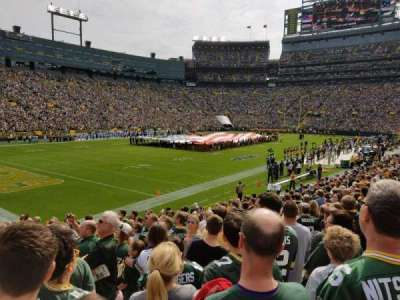 Lambeau Field, section: 108, row: 19, seat: 7