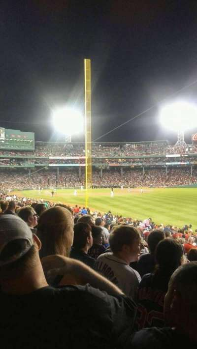 Fenway Park, section: Right Field Box 91, row: uu, seat: 4