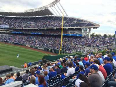 Kauffman Stadium, section: 202, row: HWC, seat: 5