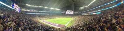 U.S. Bank Stadium, section: 116, row: 27, seat: 19