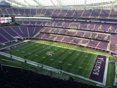 U.S. Bank Stadium, section: 308, row: 12, seat: 17