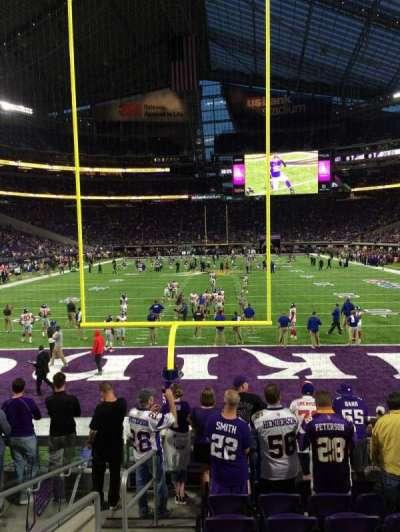 U.S. Bank Stadium, section: 141, row: 8, seat: 19