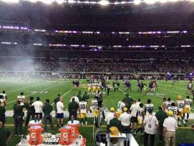U.S. Bank Stadium, section: V3, row: 1