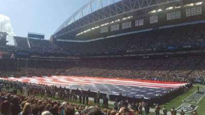 CenturyLink Field, section: 104, row: p, seat: 10-11