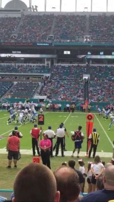 Hard Rock Stadium, section: 116, row: 8, seat: 7