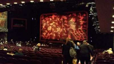 Minskoff Theatre, section: Orchestra, row: YY, seat: 2