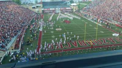 Razorback Stadium, section: 484, row: 1, seat: 8
