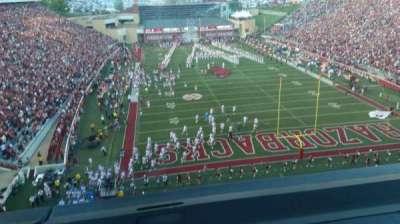 Razorback Stadium, section: 484, row: 1, seat: 8
