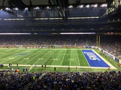 Ford Field, section: 210, row: 1, seat: 20