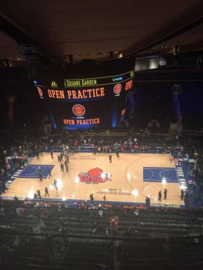 Madison Square Garden, section: 314, row: BS, seat: 3