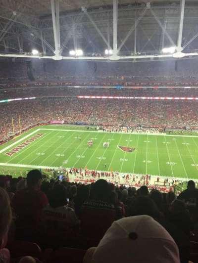 University of Phoenix Stadium, section: 412, row: 17, seat: 2