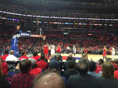 Staples Center, section: 102, row: 2, seat: 9