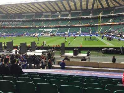 Twickenham Stadium, section: L21, row: 20, seat: 106