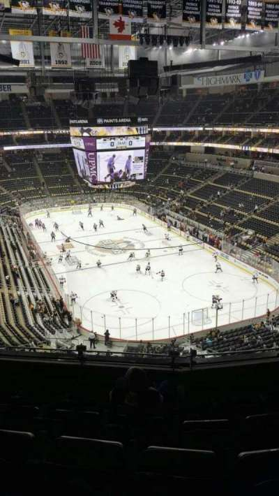 PPG Paints Arena, section: 213, row: E, seat: 10