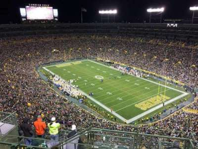 Lambeau Field, section: 734s, row: 14