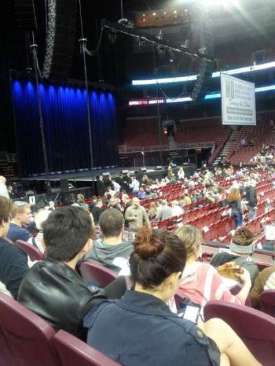 Wells Fargo Center, section: 124, row: 7, seat: 16