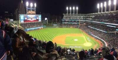 Progressive Field, section: 559, row: J, seat: 18