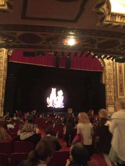 Cadillac Palace Theater, section: Orchestra L, row: V, seat: 3