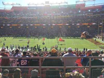 FedEx Field, section: 219, row: 3, seat: 12