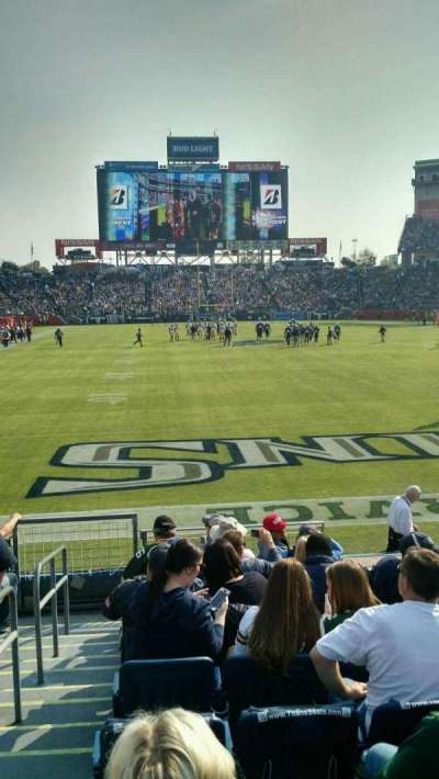 Nissan Stadium, section: 101, row: K, seat: 20