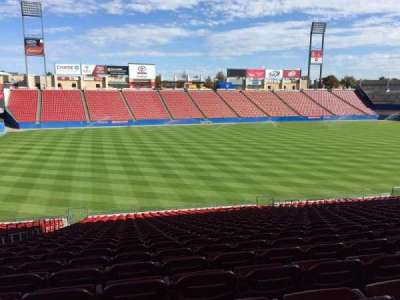 Toyota Stadium, section: 102, row: 26, seat: 3