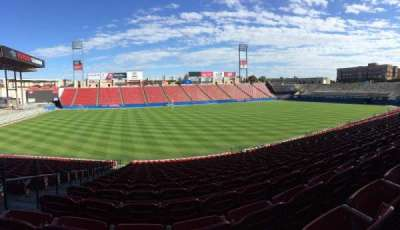 Toyota Stadium, section: 103, row: 28, seat: 17