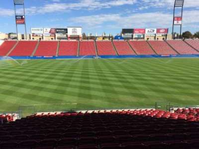 Toyota Stadium, section: 105, row: 17, seat: 11