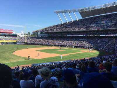 Kauffman Stadium, section: 215, row: GG, seat: 11