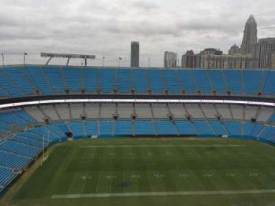 Bank of America Stadium, section: 544, row: 25, seat: 1, 2, 3, 4