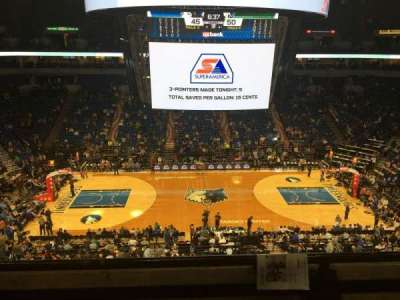 Target Center, section: 211, row: B, seat: 12
