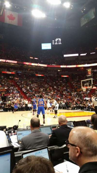 American Airlines Arena, section: Flagship North, row: 3, seat: 5
