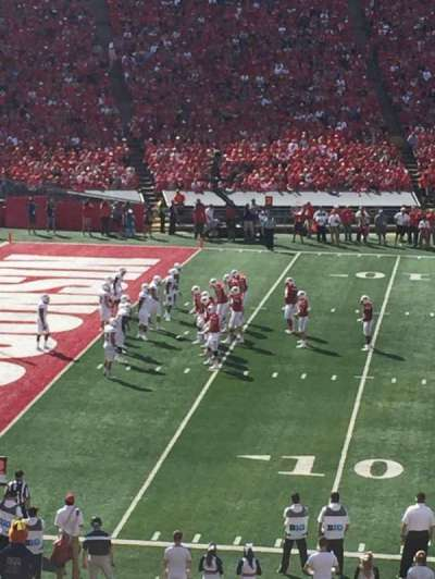 Camp Randall Stadium, section: V, row: 46, seat: 19