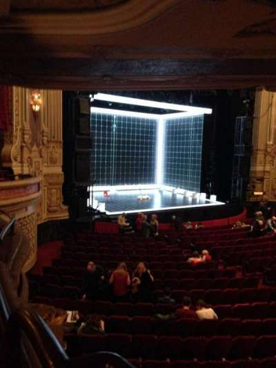 Oriental Theatre, section: Dress Circle L, row: GG, seat: 1