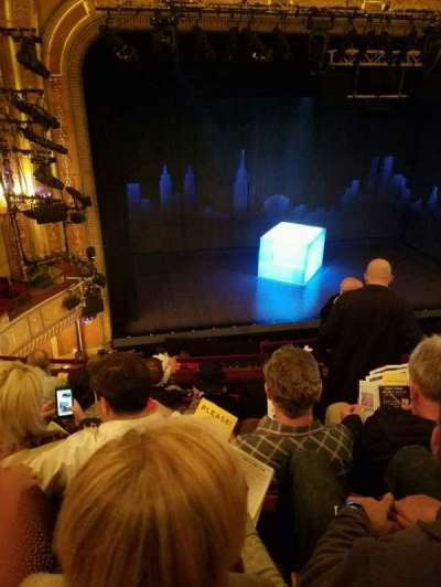 Walter Kerr Theatre, section: MezzLeft, row: F, seat: 5