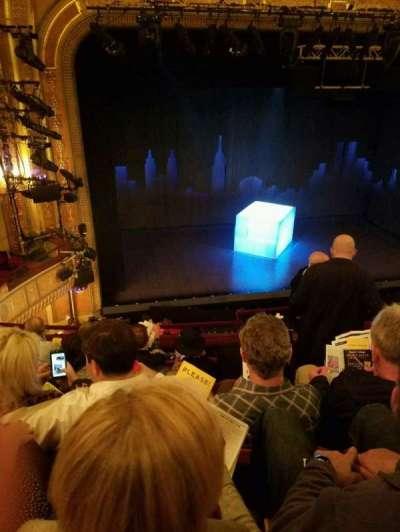 Walter Kerr Theatre, section: Mezz Left, row: F, seat: 5