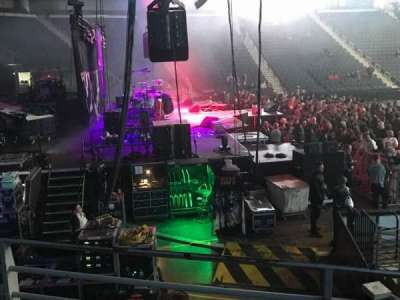 Infinite Energy Arena, section: 115, row: L, seat: 5