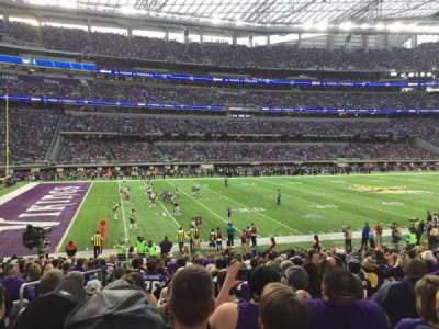 U.S. Bank Stadium, section: 112, row: 18, seat: 20